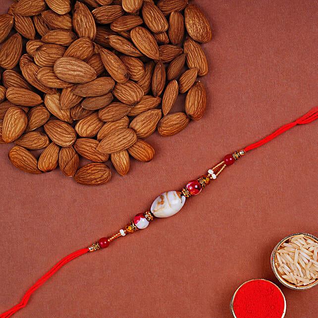 Designer Shell Rakhi And Almonds