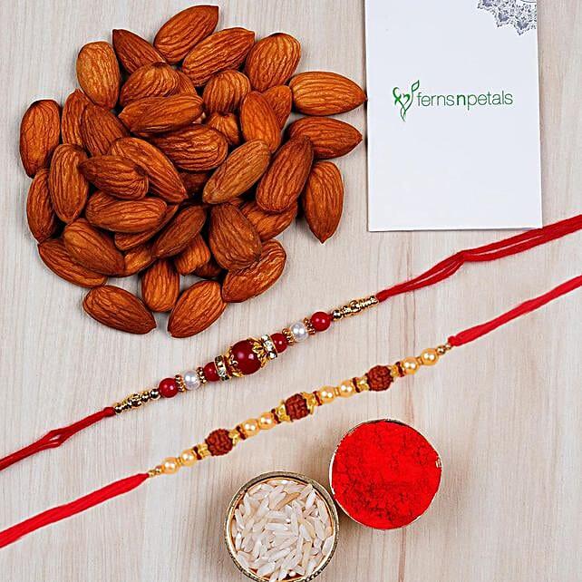 Beautiful Rakhi With Almonds