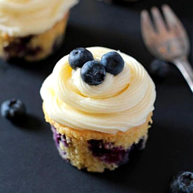 Blueberry Yoghurt Cupcakes