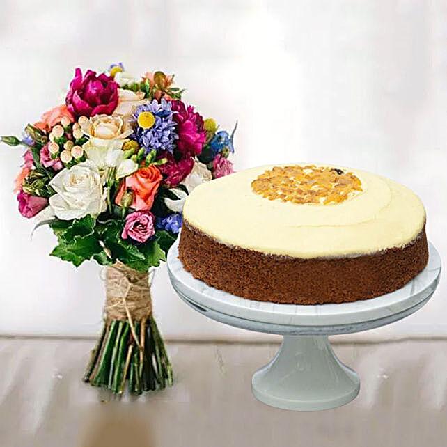 Carrot Cake & Impressive Flower Bunch