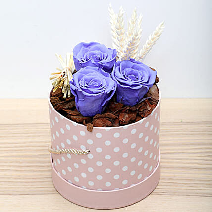 Purple Forever Roses:Send Forever Roses to Singapore