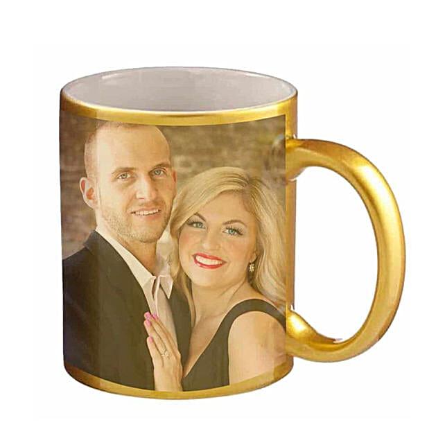 Golden Personalised Couple Mug