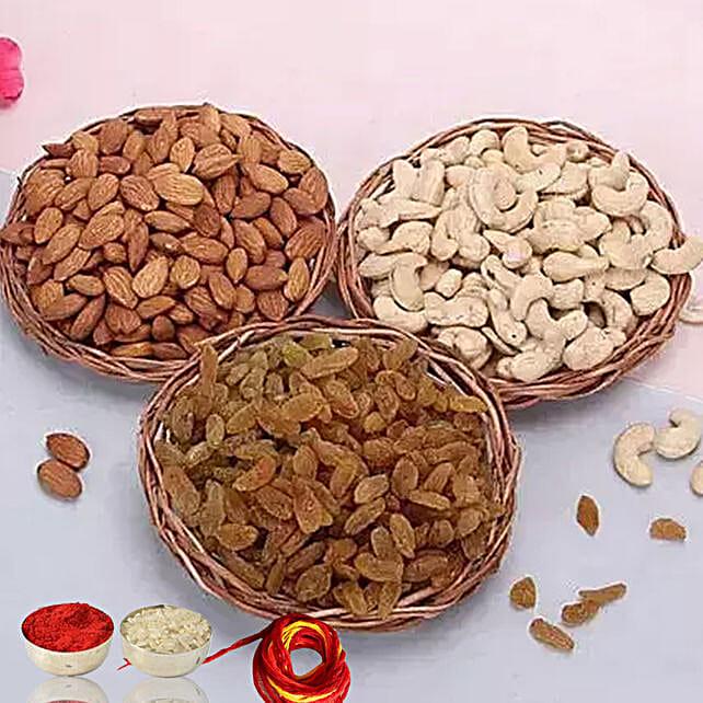 Sweetness Ever With Moli & Roli Chawal For Bhaidooj:bhai dooj dry fruits