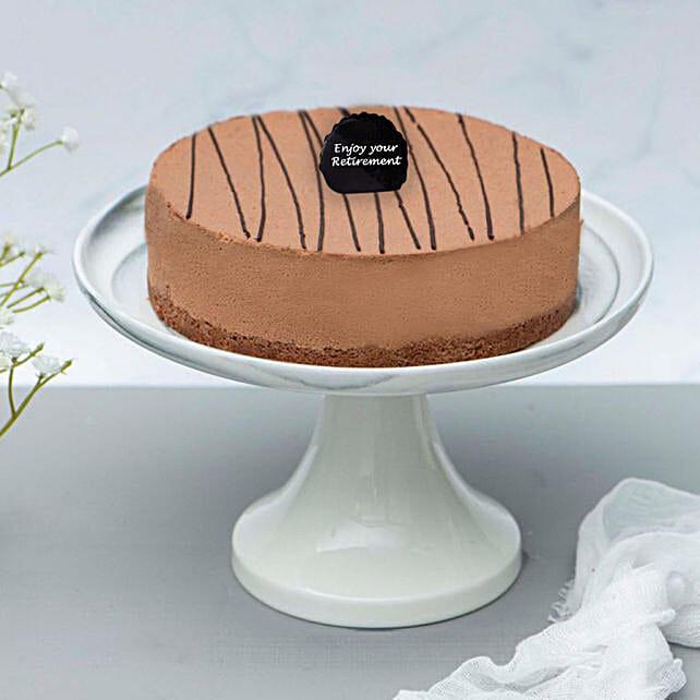 Rich Chocolate Truffle Retirement Cake