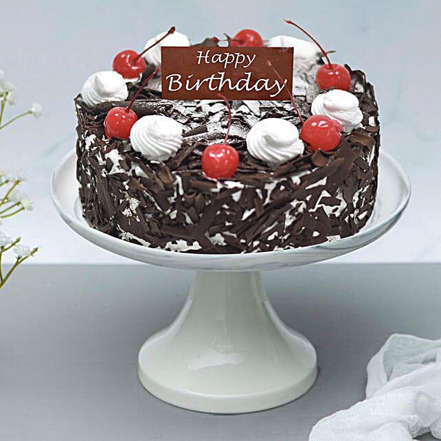 Appetizing Black Forest Cake For Birthday