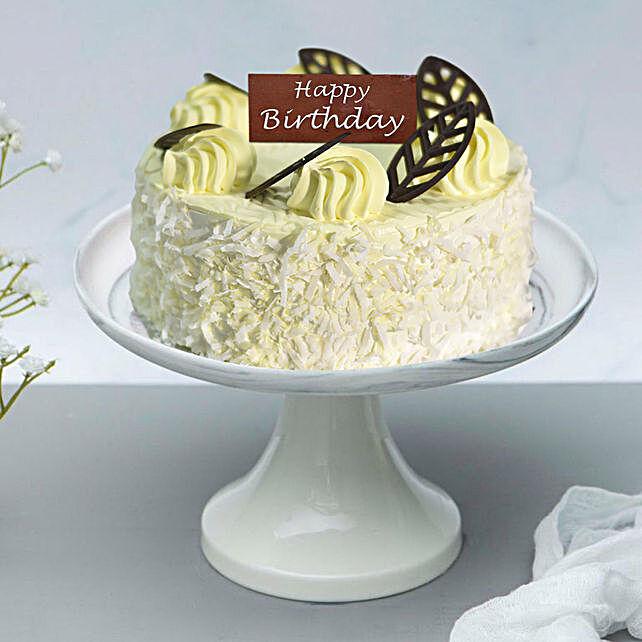 Luscious Coconut Cake For Birthday