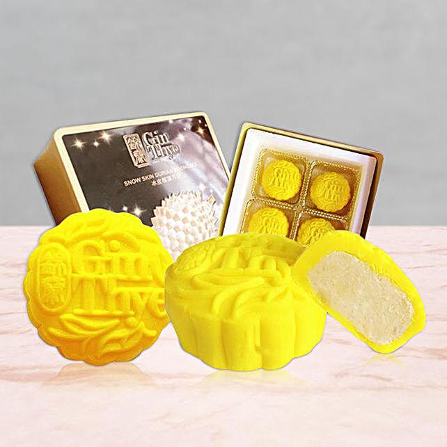 Premium Snowskin Yellow Mooncake