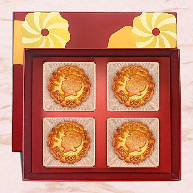 Soy Yolk Bakeskin Mooncake:Mooncake Delivery in Singapore
