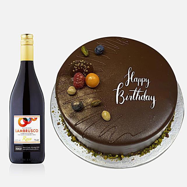 Chocolate Cake With Tesco Red Wine