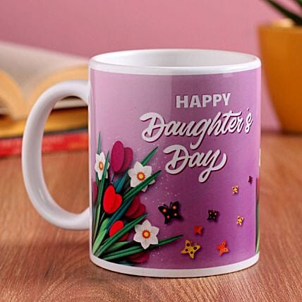 Daughters Day Greetings Printed Mug:Send Daughters Day Gifts to Singapore