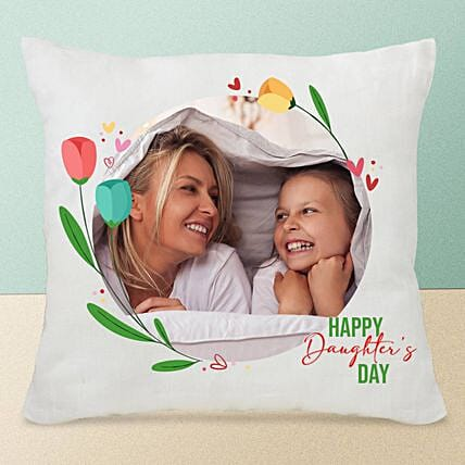 Daughters Day Personalised Cushion