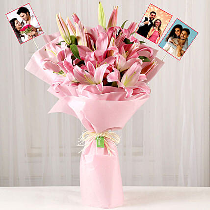 Personalised Passionate Oriental Pink Lilies:Personalised Gifts to Singapore