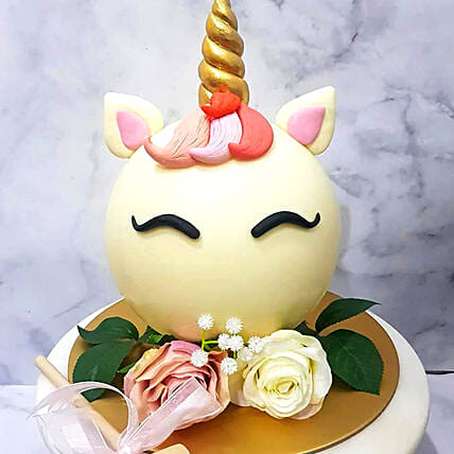 Unicorn Shaped Pinata Cake