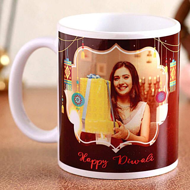 Personalised Diwali White Ceramic Mug