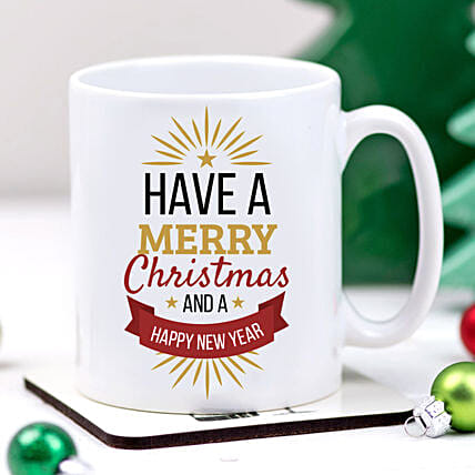 Xmas And New Year Greetings Mug