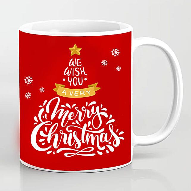 Xmas Greetings Red Mug:Send Christmas Gifts to Singapore