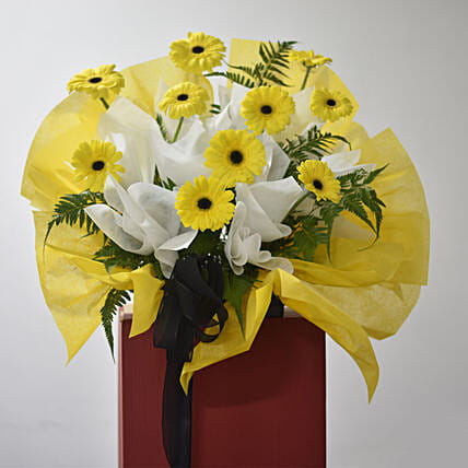 Yellow Gerberas Flower Stand:Flower Delivery Singapore