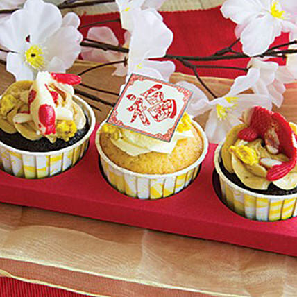 Yummy 3D Cupcakes:Send Chinese New Year Gifts to Singapore