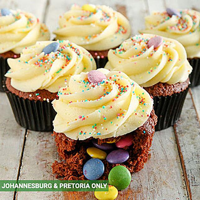 Birthday Cake Pinata Cupcakes