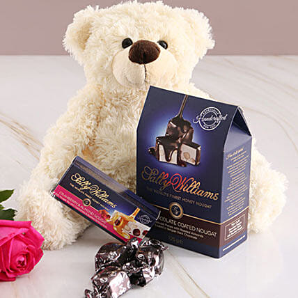 Cuddly Teddy And Nougat Gift Combo