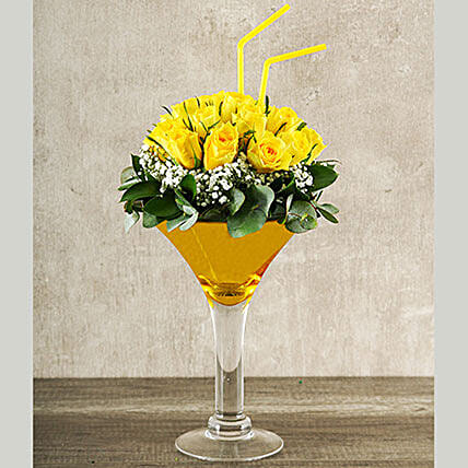 Elegant Yellow Rose Cocktail
