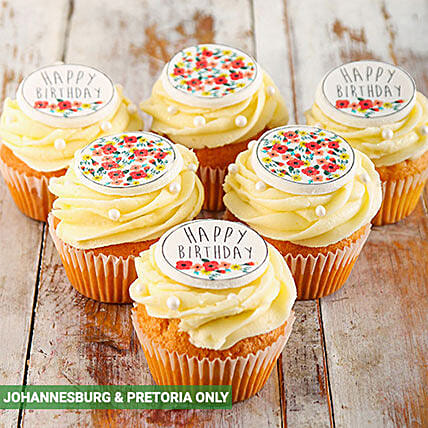 Happy Birthday Cupcakes for Her