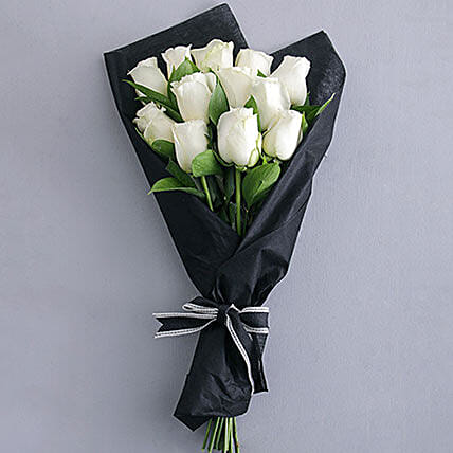 Pure White Rose Bouquet