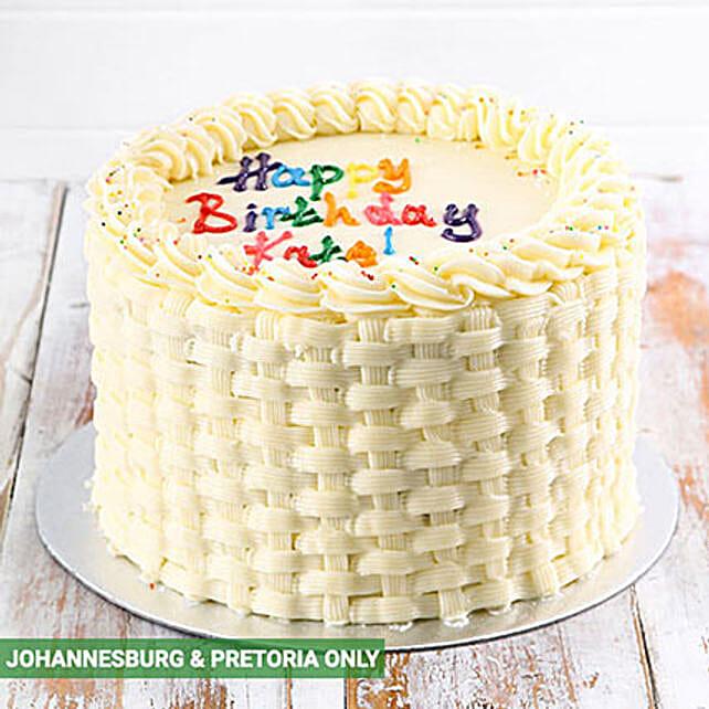 Simple Vanilla Birthday Cake