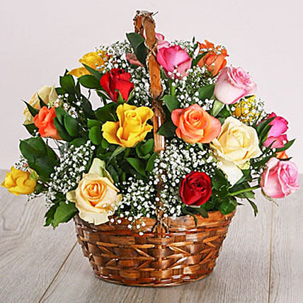 Country Mixed Rose Display:Send Corporate Gifts to South Africa