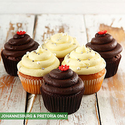 Chocolate and Vanilla Cupcake Combo:Corporate Hampers to South Africa