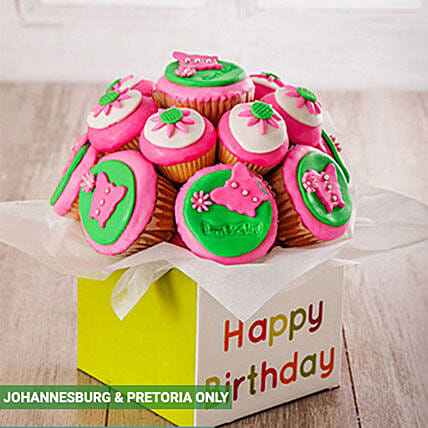 Happy Birthday Cupcake Bouquet For Her In South Africa Gift Happy Birthday Cupcake Bouquet For Her Ferns N Petals