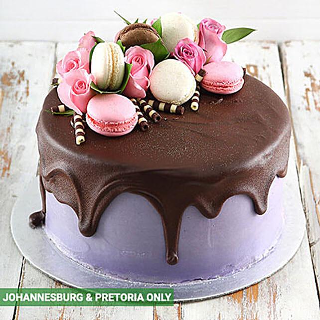 Lilac Macaroon Cake