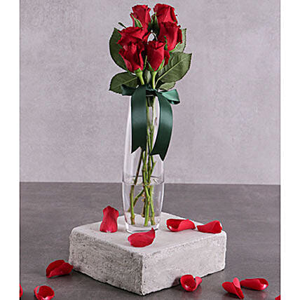 Six Red Roses For Love