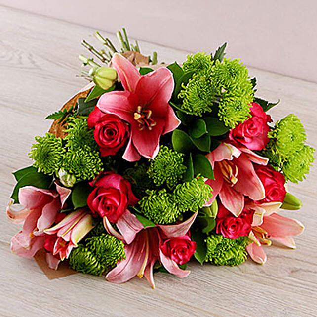Vibrant Lily Rose Bouquet