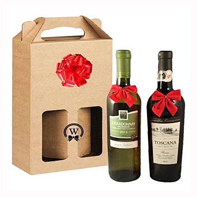 Classic Dual Italian Wines:Rakhi Gifts for Sister in Spain