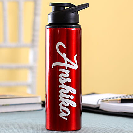 Personalised Name Red Bottle