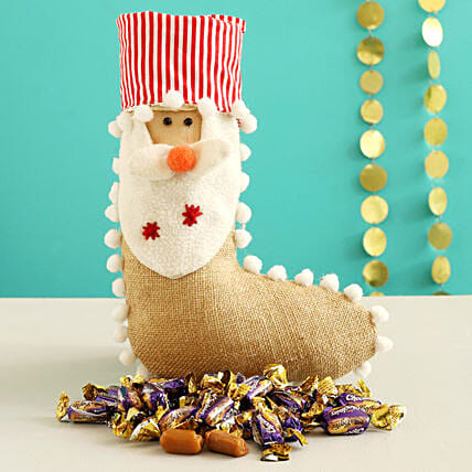 Choclairs Candy In Cute Santa Stocking:Send Gifts to Sweden