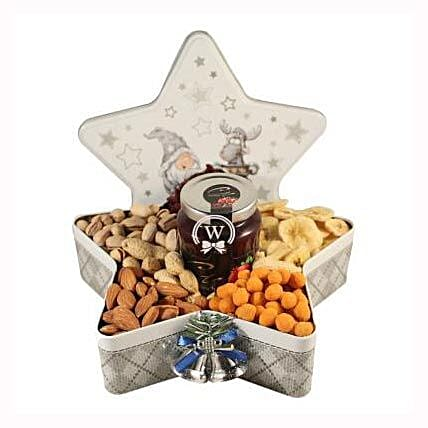 Christmas Star with Nuts:Gift Delivery in Sweden