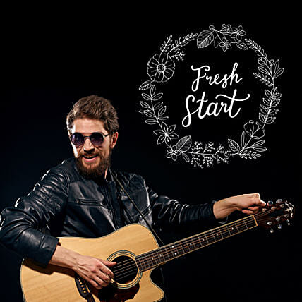 Fresh Start Musical Notes:Guitarist On Video Call In Sweden