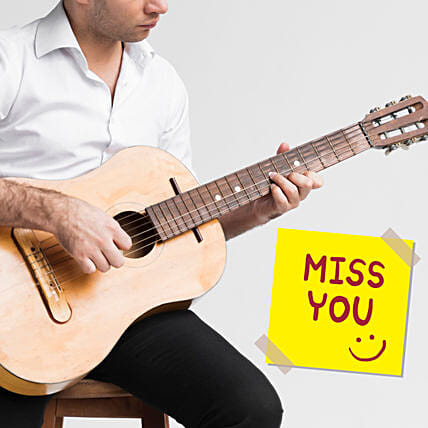 I Miss You Musical Tunes:Guitarist On Video Call In Sweden