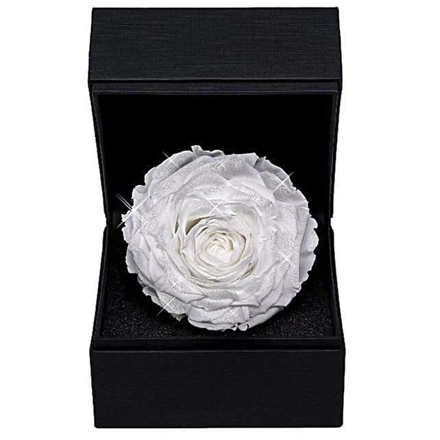 Dazzling Diamond Rose White:Rakhi Gifts for Sister in Switzerland