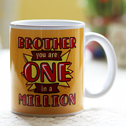 Online One In A Million Mug For Brother:Send Bhai Dooj Gifts to Thailand