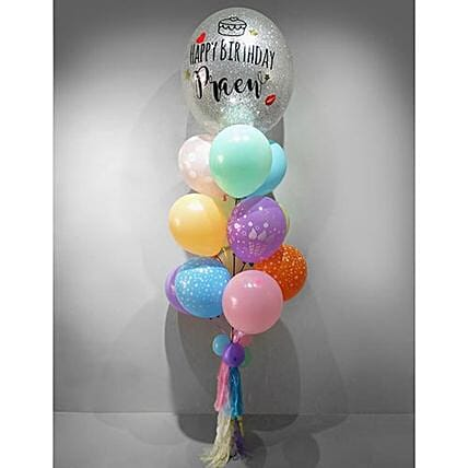 Personalised Confetti Balloon Set:Send Rakhi Gifts to Thailand for Sister