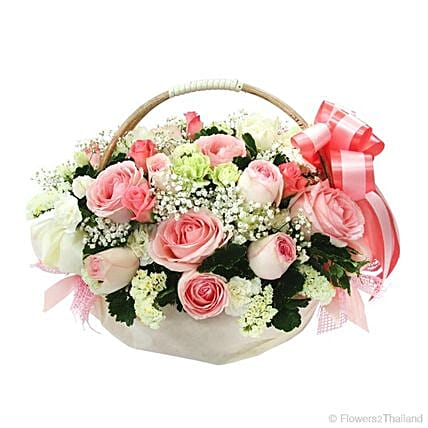Simply And Sweet Flower Basket