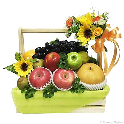 Subtle Bountiful Harvest Fruit Basket