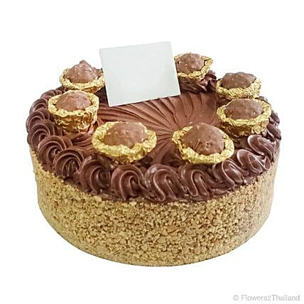Miraculous Flavourful Ferrero Gold Birthday Cake In Thailand Gift Personalised Birthday Cards Veneteletsinfo