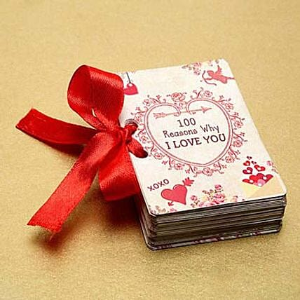 100 Reasons of Love Booklet:Send Hug Day Gifts to UAE