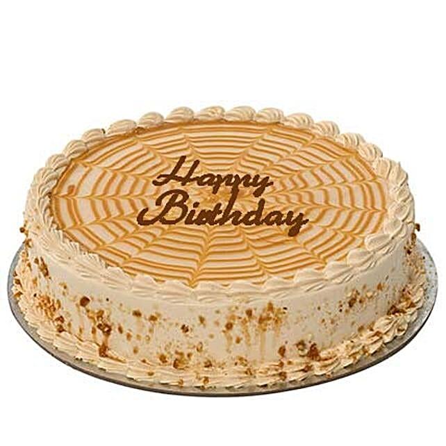 2Kg Butterscotch Birthday Cake