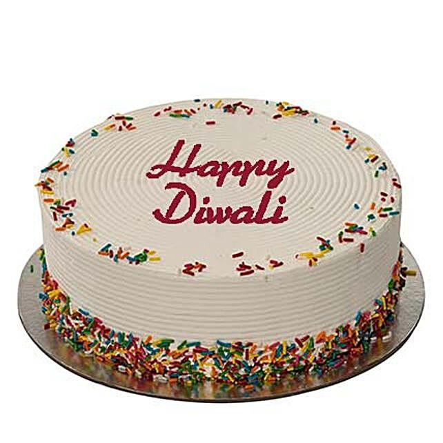 3Kg Rainbow Diwali Cake