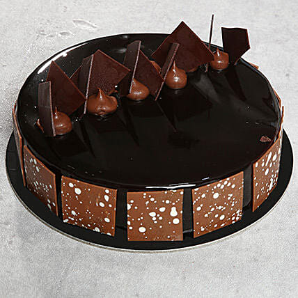 4 Portion Fudge Cake:Send Birthday Gifts to Ras Al Khaimah